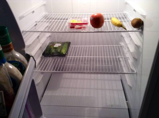 the fridge