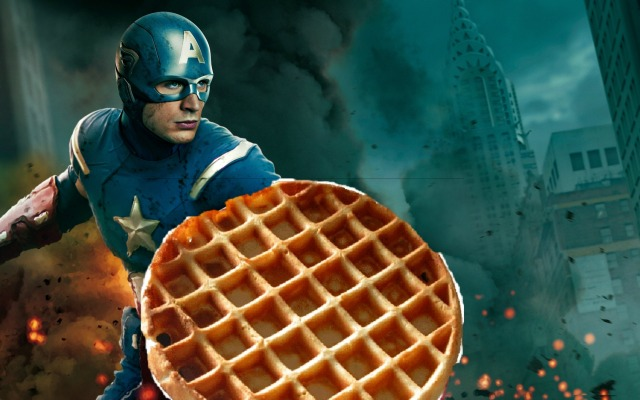 Capt-America waffle