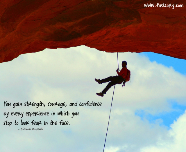 strength, courage, confidence, fear